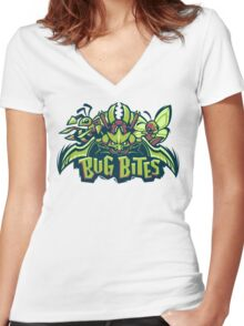 Team Bug Types - Bug Bites Women's Fitted V-Neck T-Shirt