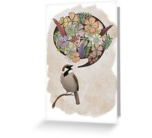 Sparrow Singin' Greeting Card
