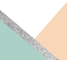 Pink and mint geometric pattern by dairinne