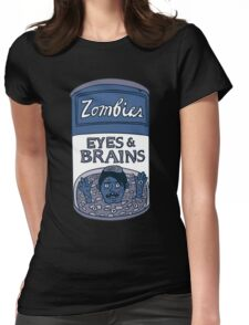 Zombies - Brains & Eyes Soup Womens Fitted T-Shirt