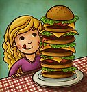 Mega Burger by Ine Spee