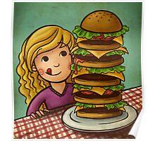 Mega Burger Poster
