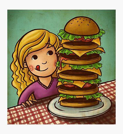 Mega Burger Photographic Print