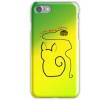 String Theory Cat 3 iPhone Case/Skin