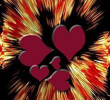 Hearts Caught In The Cross Fire by Deborah Lazarus
