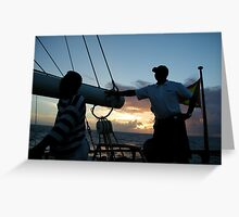 Sailing at night Greeting Card