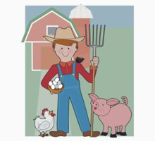 Farmer and Pig Kids Clothes