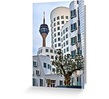 Duesseldorf media harbour Greeting Card