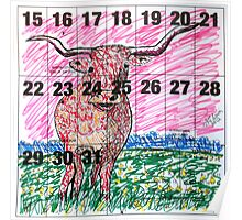 Calendar Bull 2012 Poster