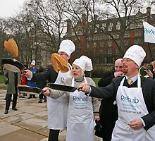 Pancake Race Westminster  by Keith Larby