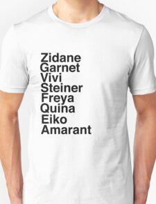 Final Fantasy IX Names T-Shirt