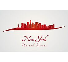 New York skyline in red and gray background Photographic Print
