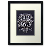 Solo Smuggling - Dark Framed Print