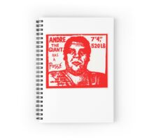 Andre The Giant Spiral Notebook