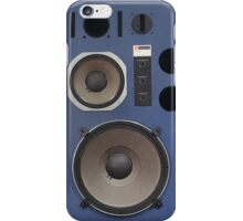 vintage hifi speaker front iPhone Case/Skin
