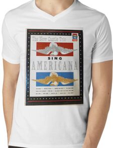 Americana Mens V-Neck T-Shirt