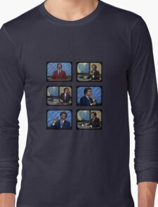 Anchorman - Ron Bergundy - TV Ron Long Sleeve T-Shirt