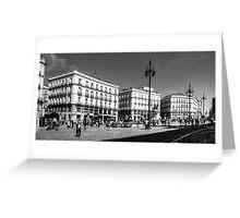 Puerta del Sol - B&W Greeting Card