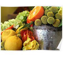 Citrus Floral  Poster