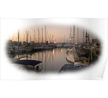 The marina sunset wet oil paint 2 Poster