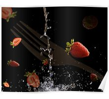 Strawberrie fall Poster