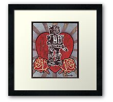 Robot love 1 Framed Print