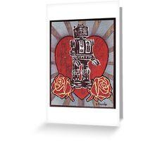 Robot love 1 Greeting Card