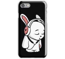Love Music Cartoon Bunny with headphones iPhone Case/Skin