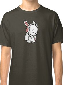 Love Music Cartoon Bunny with headphones Classic T-Shirt