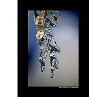 Melting Icicle Photographic Print