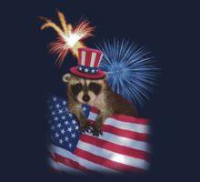 Patriotic Raccoon Kids Clothes