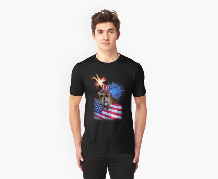 Patriotic Raccoon by jkartlife