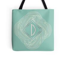 1920s Blue Deco Swing with Monogram letter D Tote Bag
