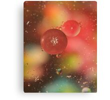 Oil, Water, and Crayons V Canvas Print