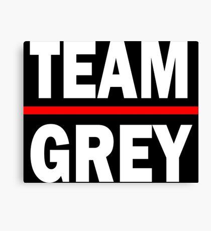 Team grey - For dark Canvas Print
