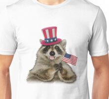 Patriotic Raccoon Unisex T-Shirt