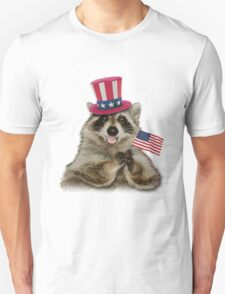 Patriotic Raccoon T-Shirt