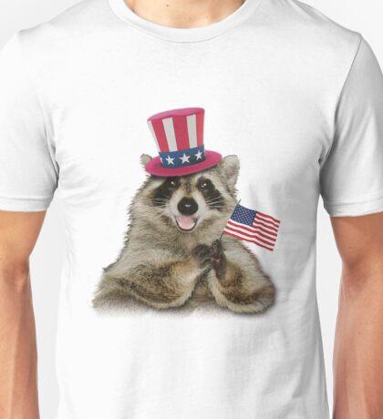 Patriotic Raccoon Unisex T-Shirt