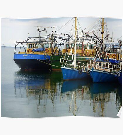 Irish Fishing Boats Poster