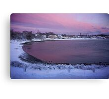 Belt of Venus after the storm ! Canvas Print
