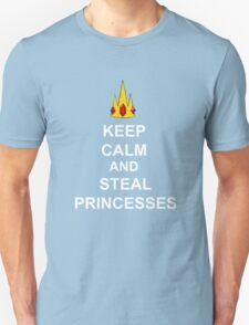 Keep Calm And Steal Princesses White Font T-Shirt