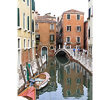 Venice Canal Reflections Photographic Print