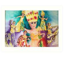 Bali Dancers Art Print