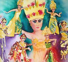 Bali Dancers by journeyart