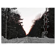 First Light Crossing Photographic Print