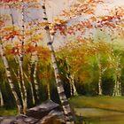 Highpoint Birches by journeyart