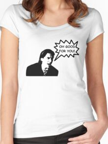 'Oh Good for You!' Christian Bale Design Women's Fitted Scoop T-Shirt
