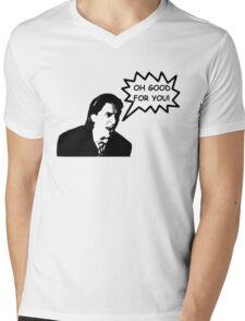'Oh Good for You!' Christian Bale Design Mens V-Neck T-Shirt