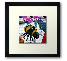 Buzzing Bubble Bee Framed Print