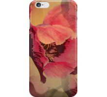 Summer Poppy, Mixed media design iPhone Case/Skin